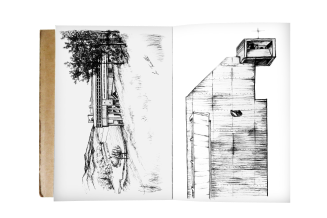 Sketchbook drawings of La Tourrette