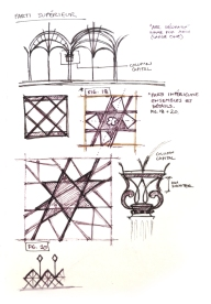 Eiffel Tower detail sketches