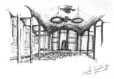 Interior sketch of La Raincy