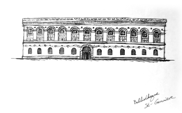 Sketch of Bibliotheque St-Genvieve
